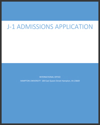 J‐1 Admissions Application