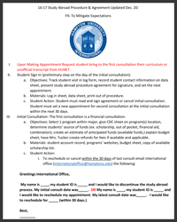 Study Abroad Procedure and Agreement